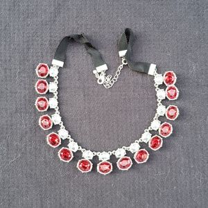 Fancy ruby collar necklace